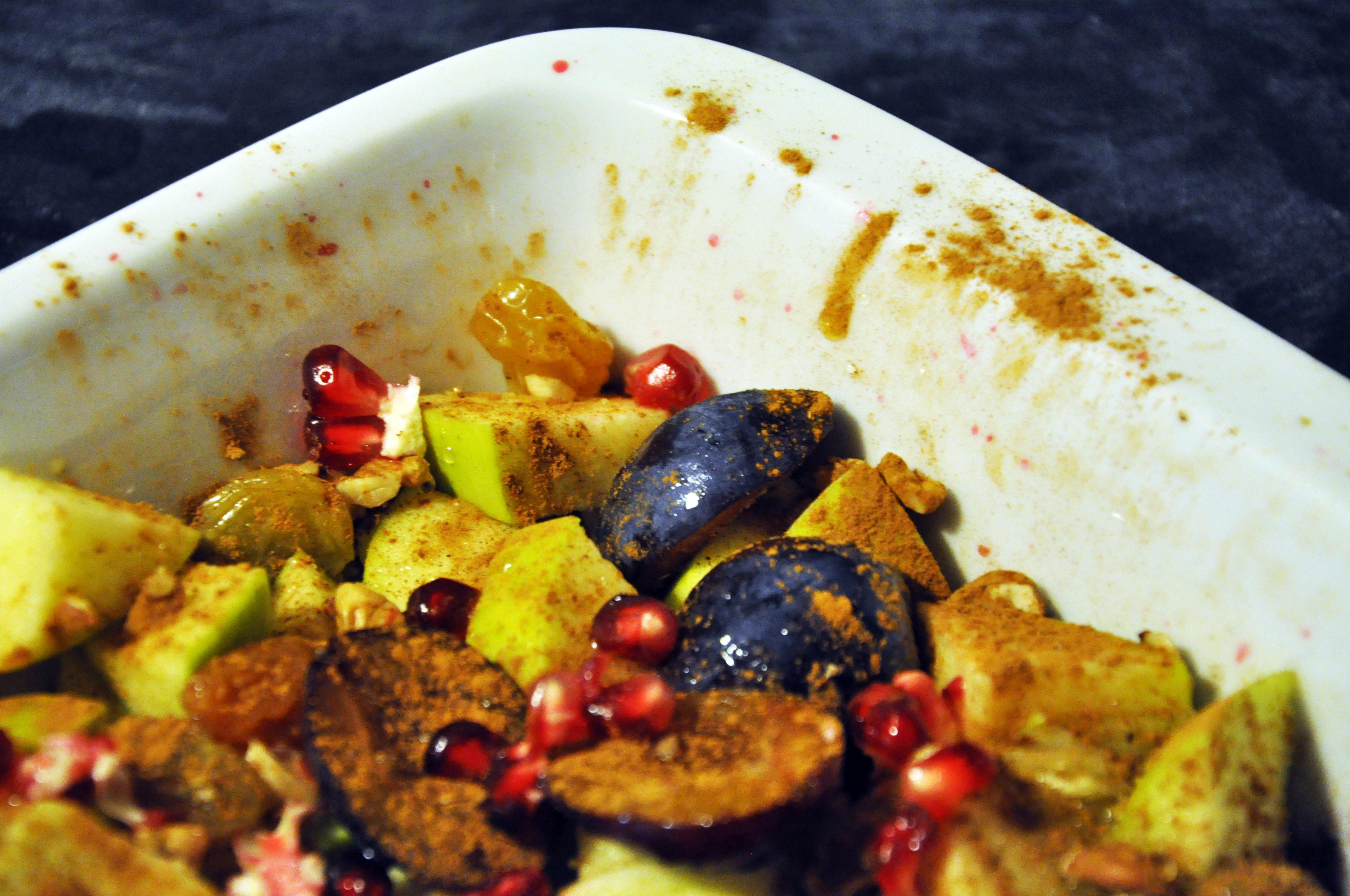 Pečené ovoce s ořechy